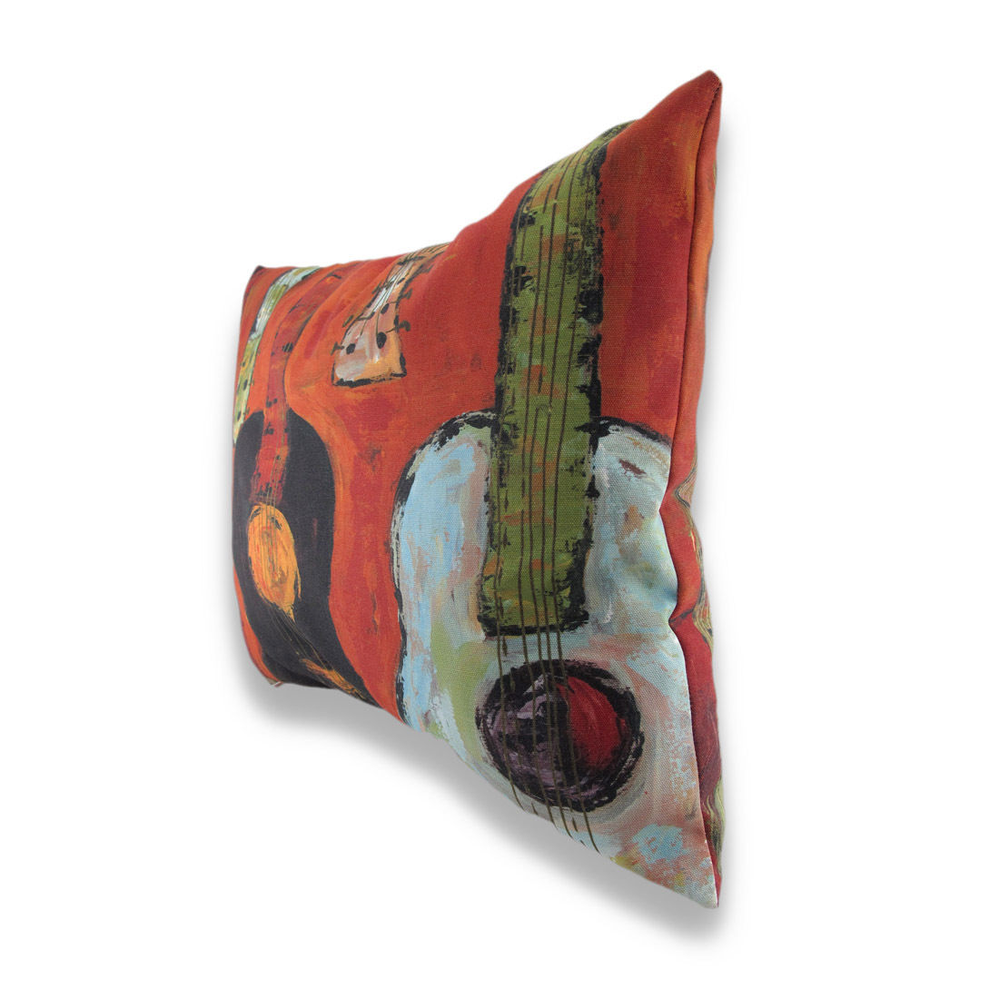 `Strung Up` Guitar Print Indoor/Outdoor Pillow 24 X 18 In.