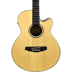 fretlight fg 529 pro a e guitar with built in lighted learning system natural mc guitar of china. Black Bedroom Furniture Sets. Home Design Ideas
