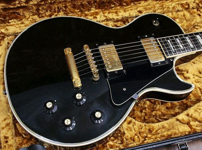 【VINTAGE】 Gibson Les Paul Custom 19'75 Black FREESHIPPING from JAPAN