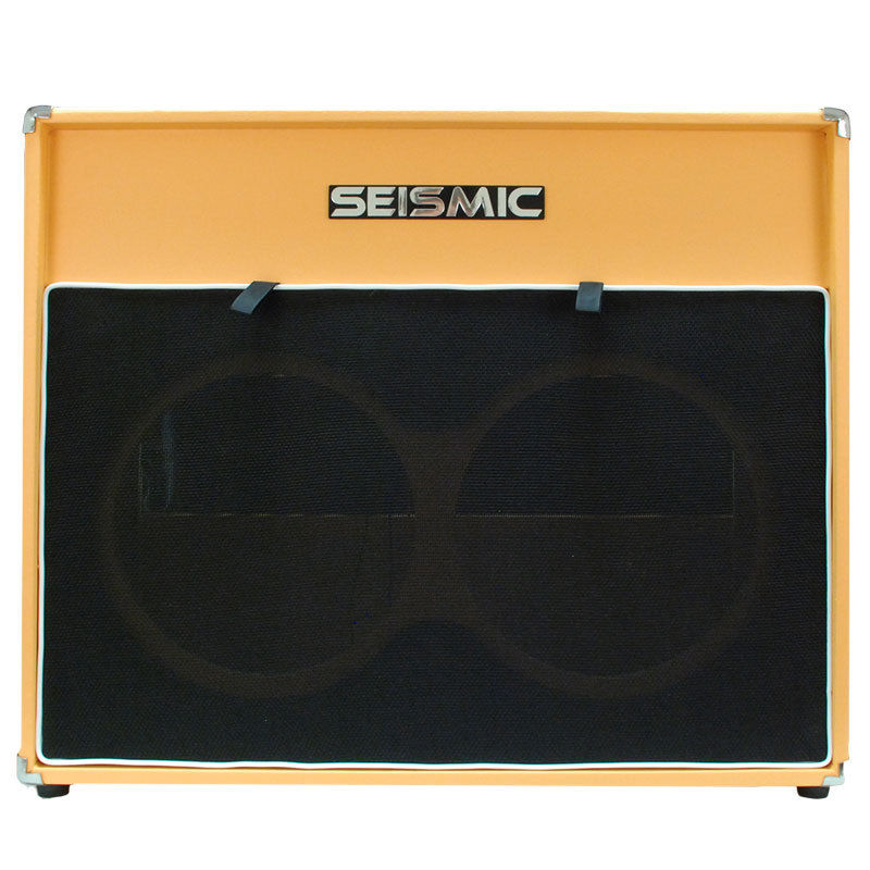 Seismic Audio 2×12 EMPTY GUITAR SPEAKER CABINET Orange Tolex Cab 212