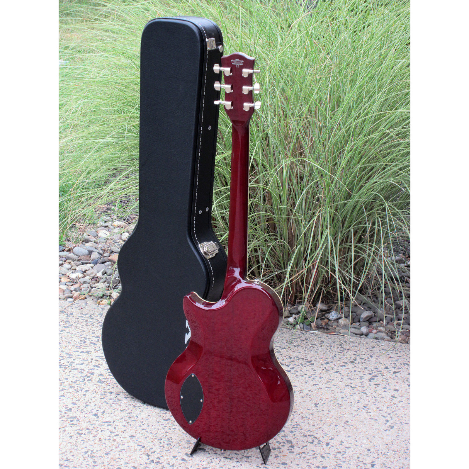 Vox Virage – Deep Cherry VGSCDC Semi-Hollow Electric Guitar with Hard Shell Case
