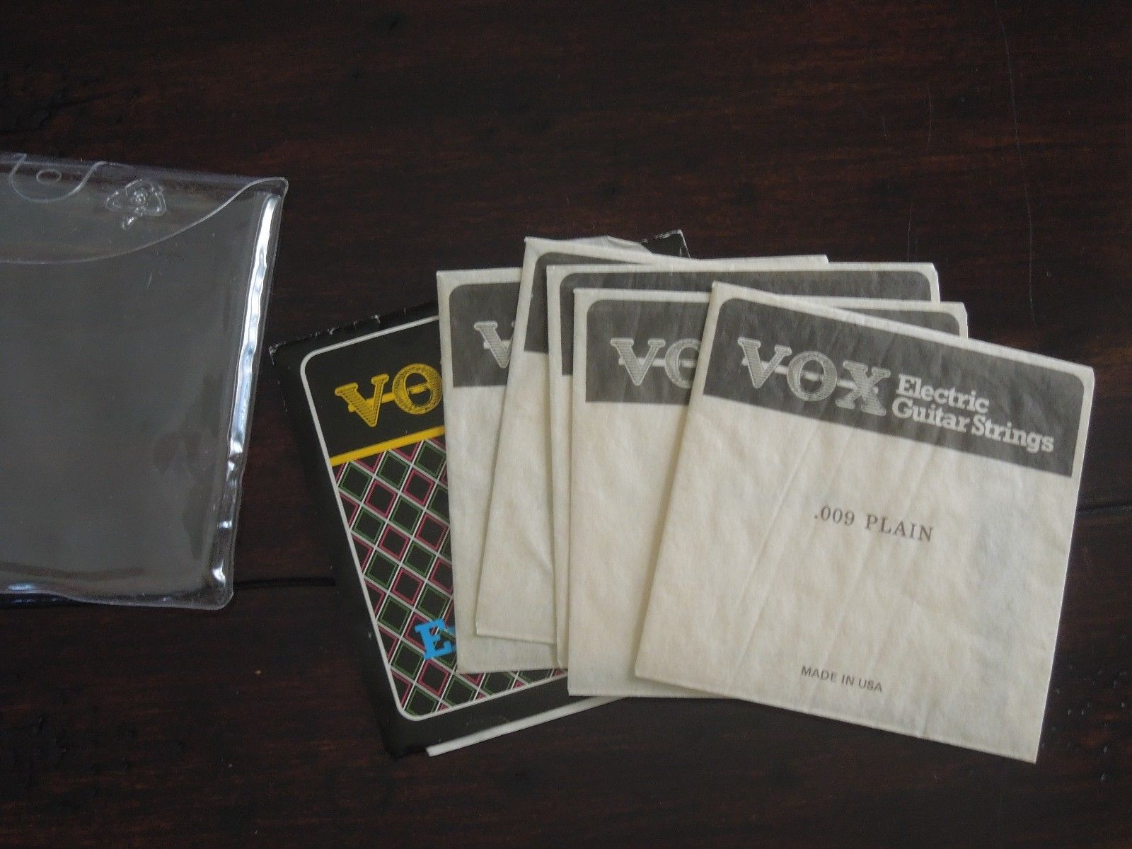 1986 Vox Guitar Strings Pack Extra Light Gauge 009-042 Case Candy For Vox Guitar