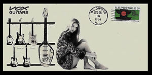 1964 Vox Guitars and Sexy Woman Ad Featured on Collector's Envelope *X583