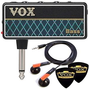 Limited VOX earphone & 2 pick amPlug2 Bass AP2-BS wide rang unplugged guitar amp