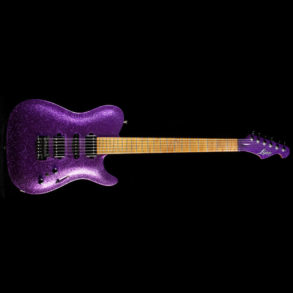 Used 2015 Lipe Carved Top Virtuoso Electric Guitar Purple Sparkle