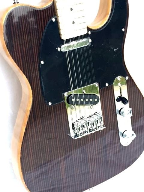 Exotic Wood Ebony Top Tele Style 12 String Electric Guitar