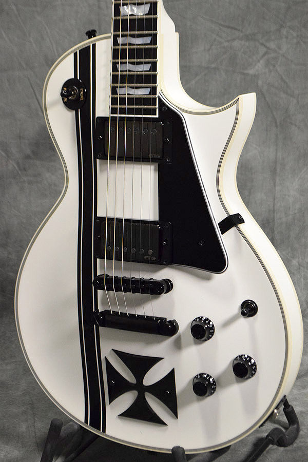 [Rera] ESP Iron Cross Snow White Electric Guitar w/HardCase From Japan Used#G473