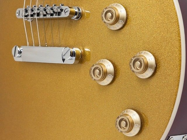 """Route 66 Modern"" Solid Body Electric Guitar – Goldtop"