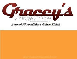 -Capri Orange- Gracey's Vintage Finishes Nitrocellulose Guitar Lacquer Aerosol.