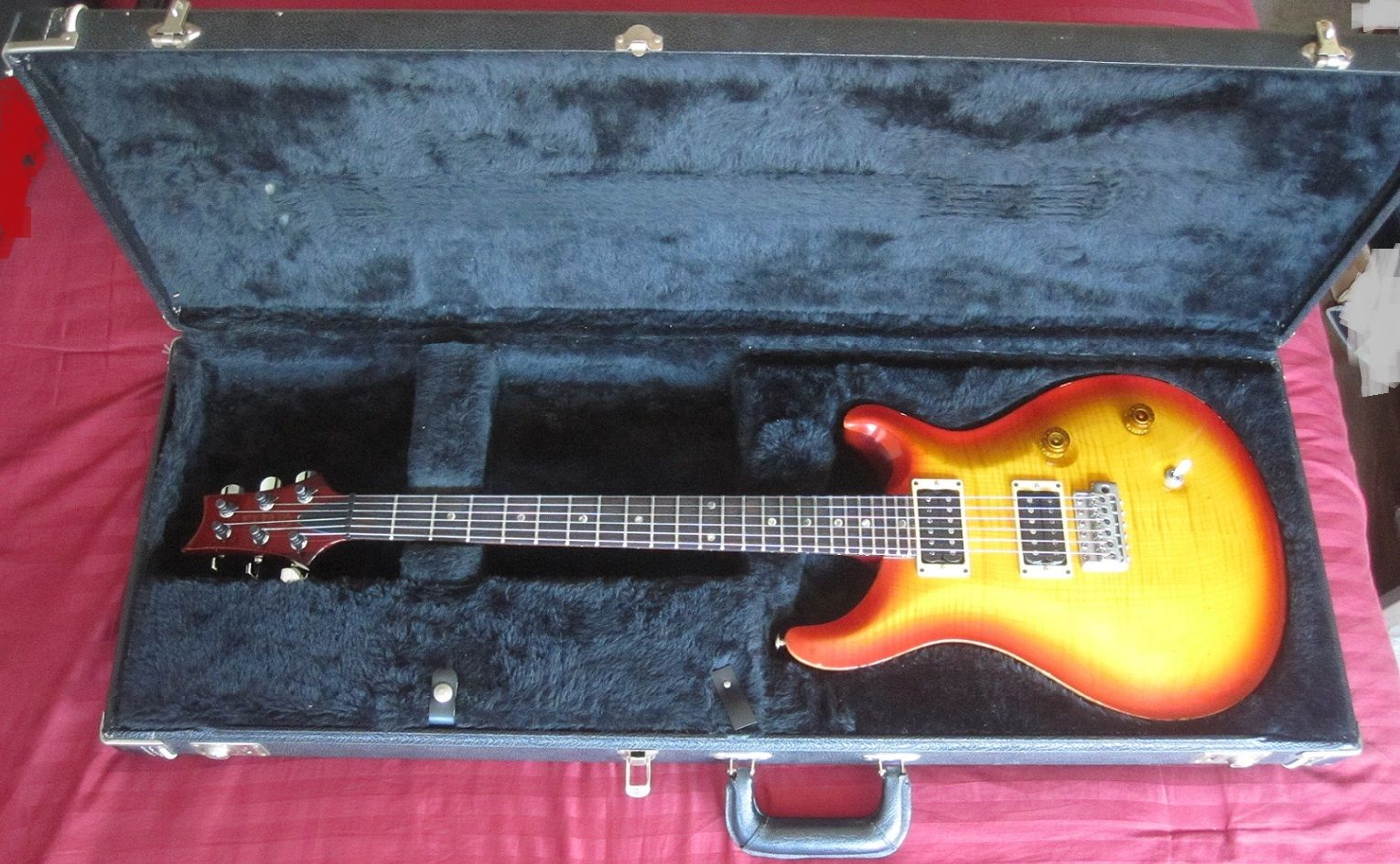 1991 PRS Custom 24 HFS And Vintage Bass Pickups Small Neck Heel Mil