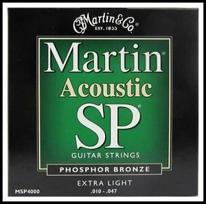 Martin MSP4000 Phosphor Bronze Extra Light Acoustic Guitar Strings 10 – 47 SP