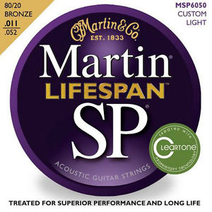 Martin SP Lifespan Custom Light Bronze Acoustic Guitar Strings MSP6050 NEW