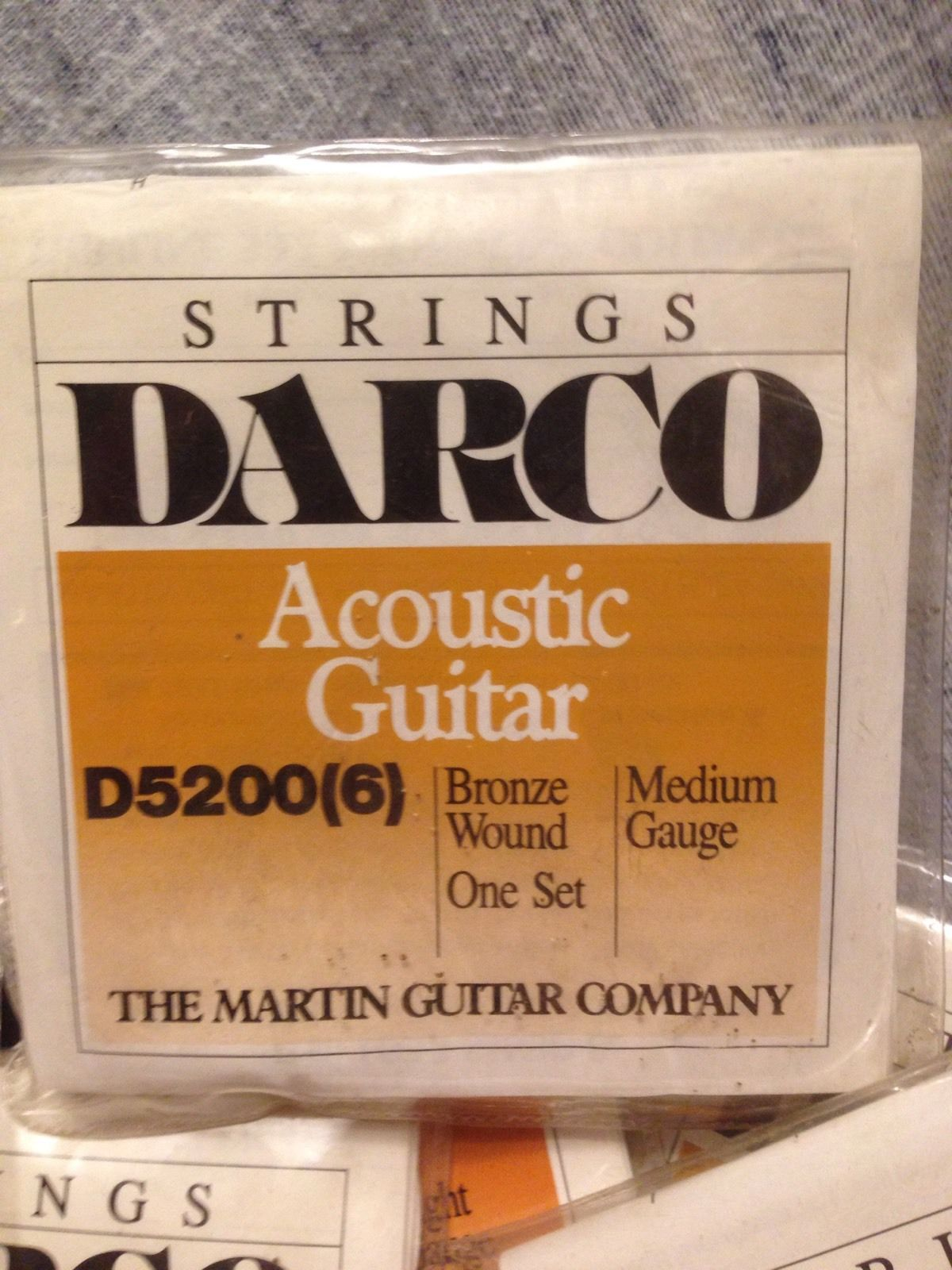 10 Sets Acoustic Guitar 6 String Sets Martin Guitar Co. Some Rust Spots