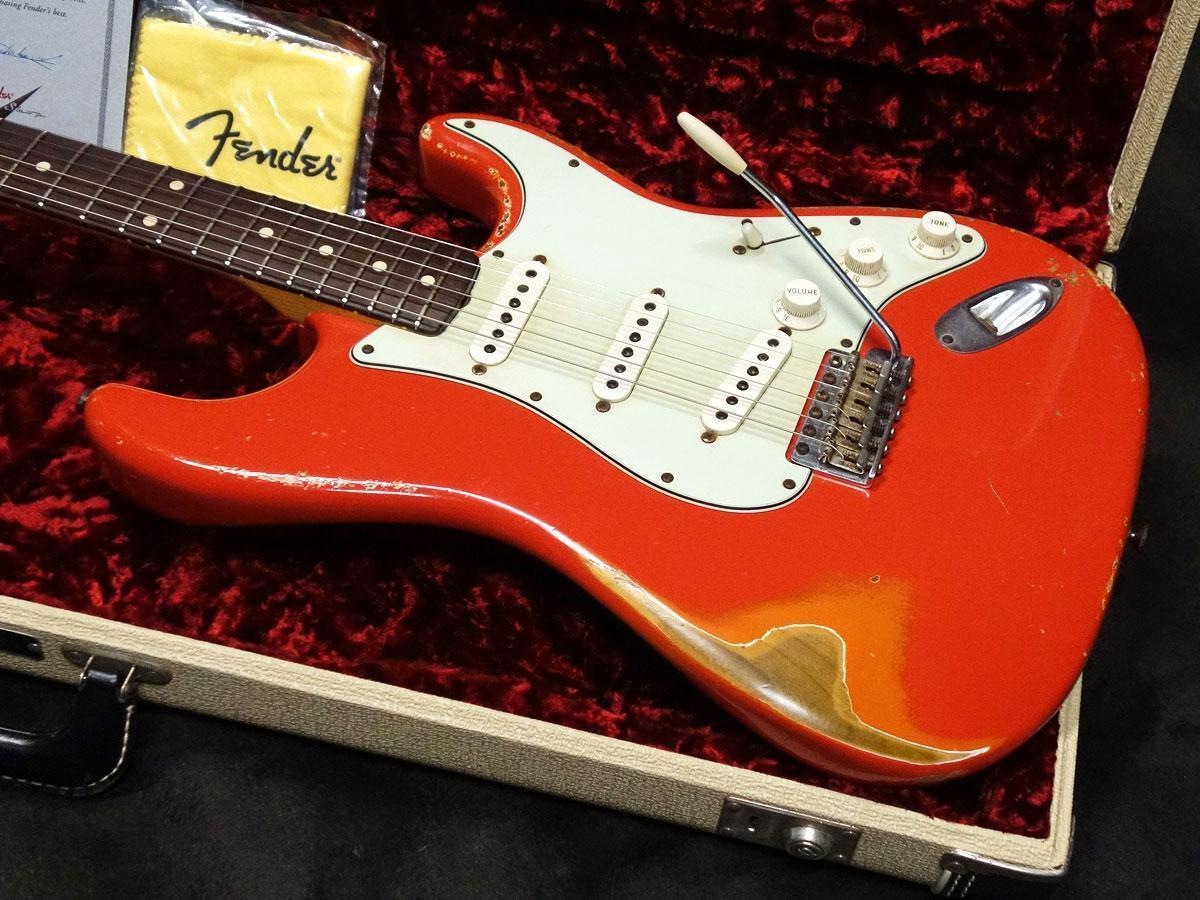 Fender Custom Shop MBS 1961 Stratocaster Fiesta Red Relic Used w/ Hard case