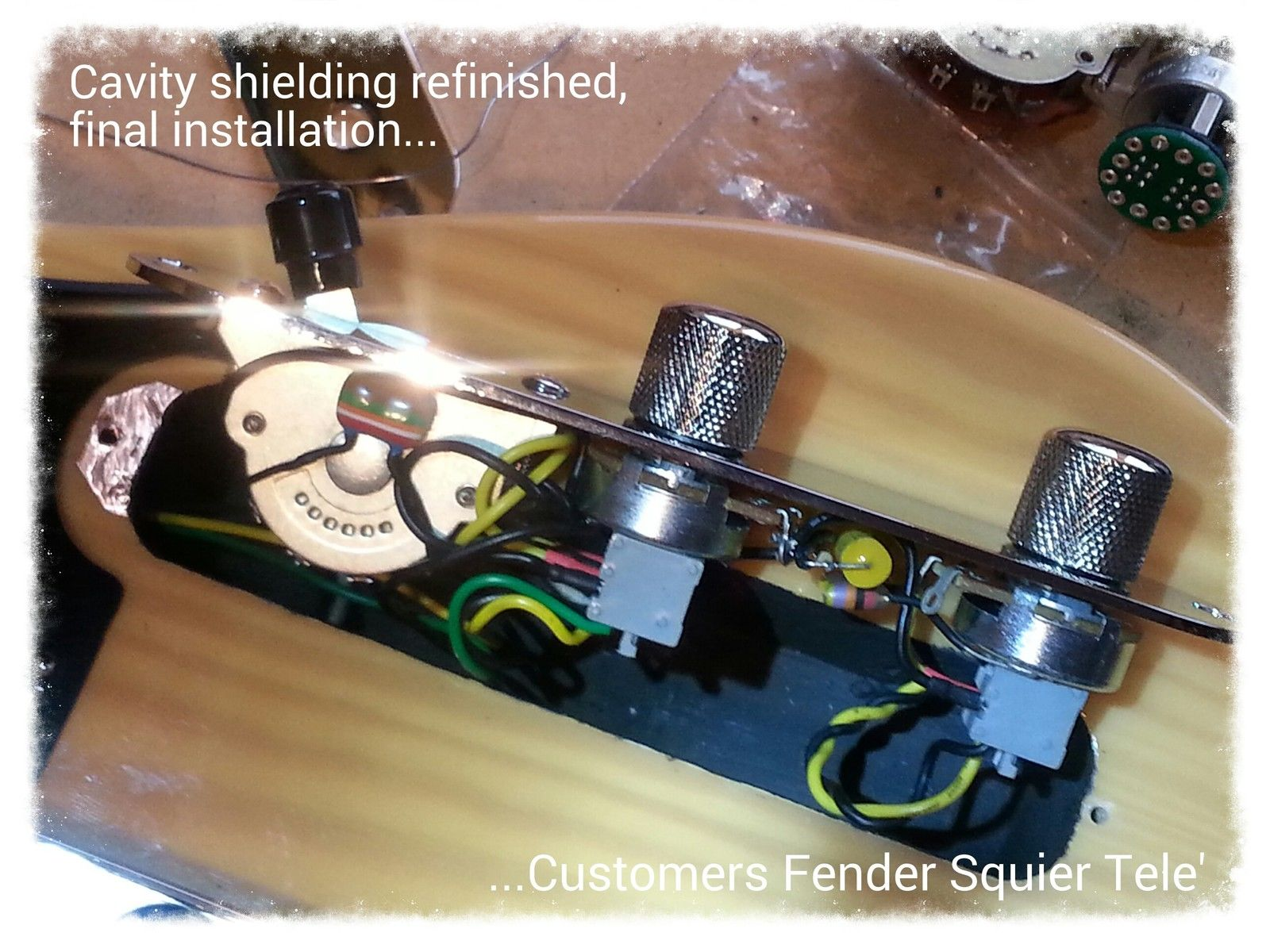 Fender Telecaster Tele 5-way control plate complete wiring upgrade kit