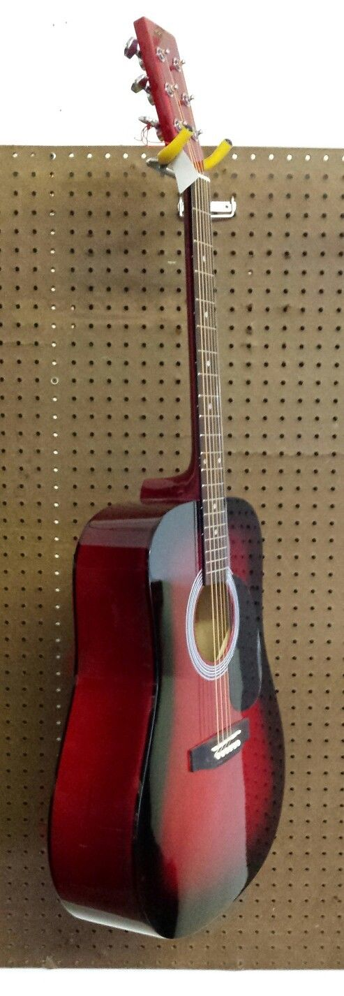 red acoustic guitar by stadium guitars dreadnought 6 string right handed guitar of china. Black Bedroom Furniture Sets. Home Design Ideas