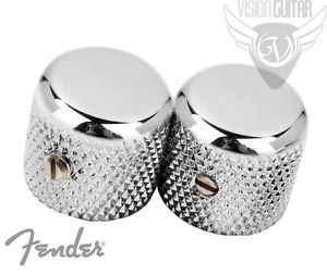 (Set of 2) Genuine Fender Pure Vintage '52 Telecaster Knurled Knobs 009-4040-049