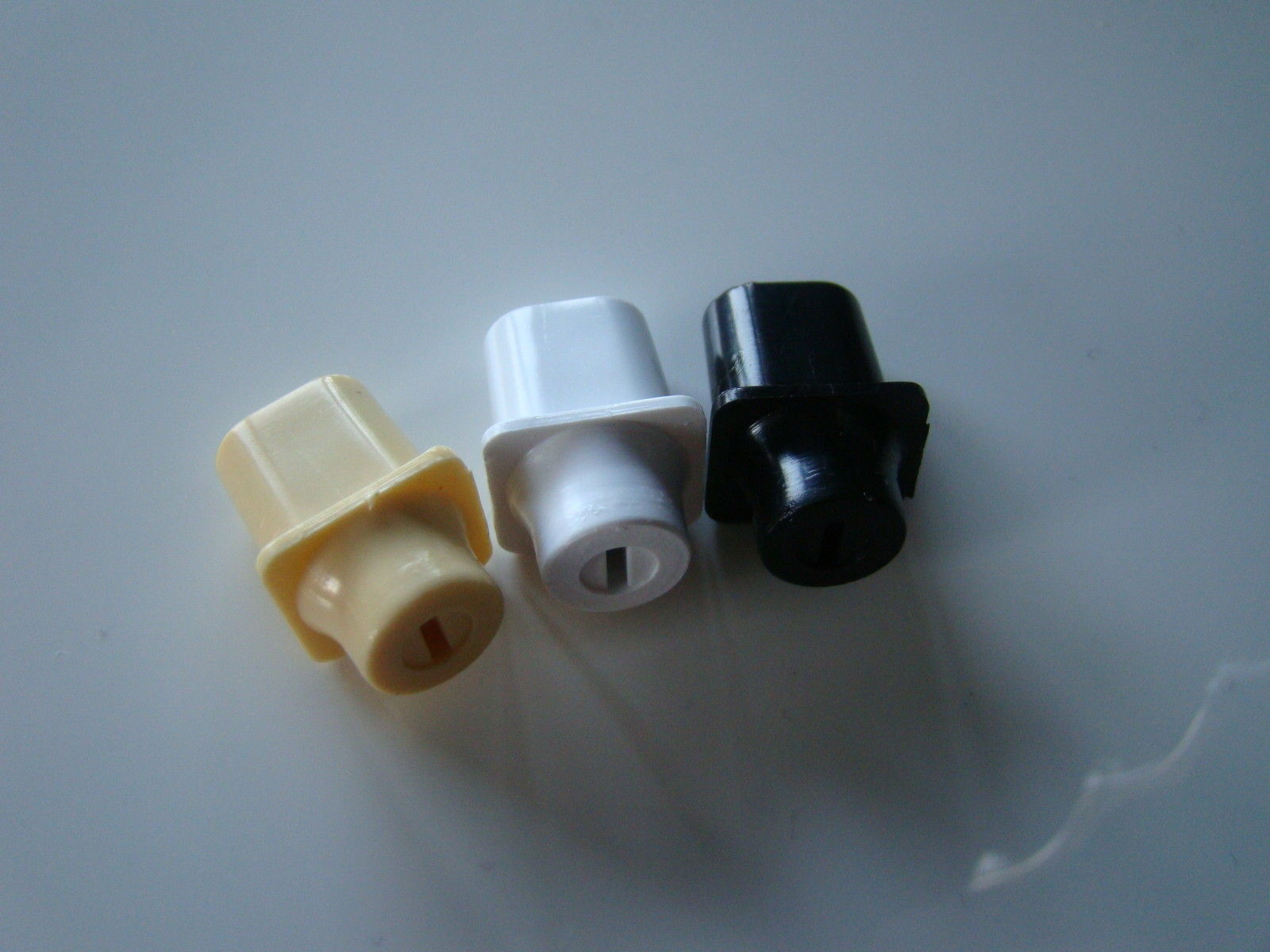 (1) Telecaster top hat switch knob black white cream fits Fender CRL Oak Grigsby