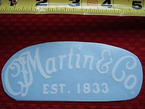 """CF MARTIN & Co. Est.1833"". TRANSFER LABEL / Sticker. WHITE Acoustic Guitar case"