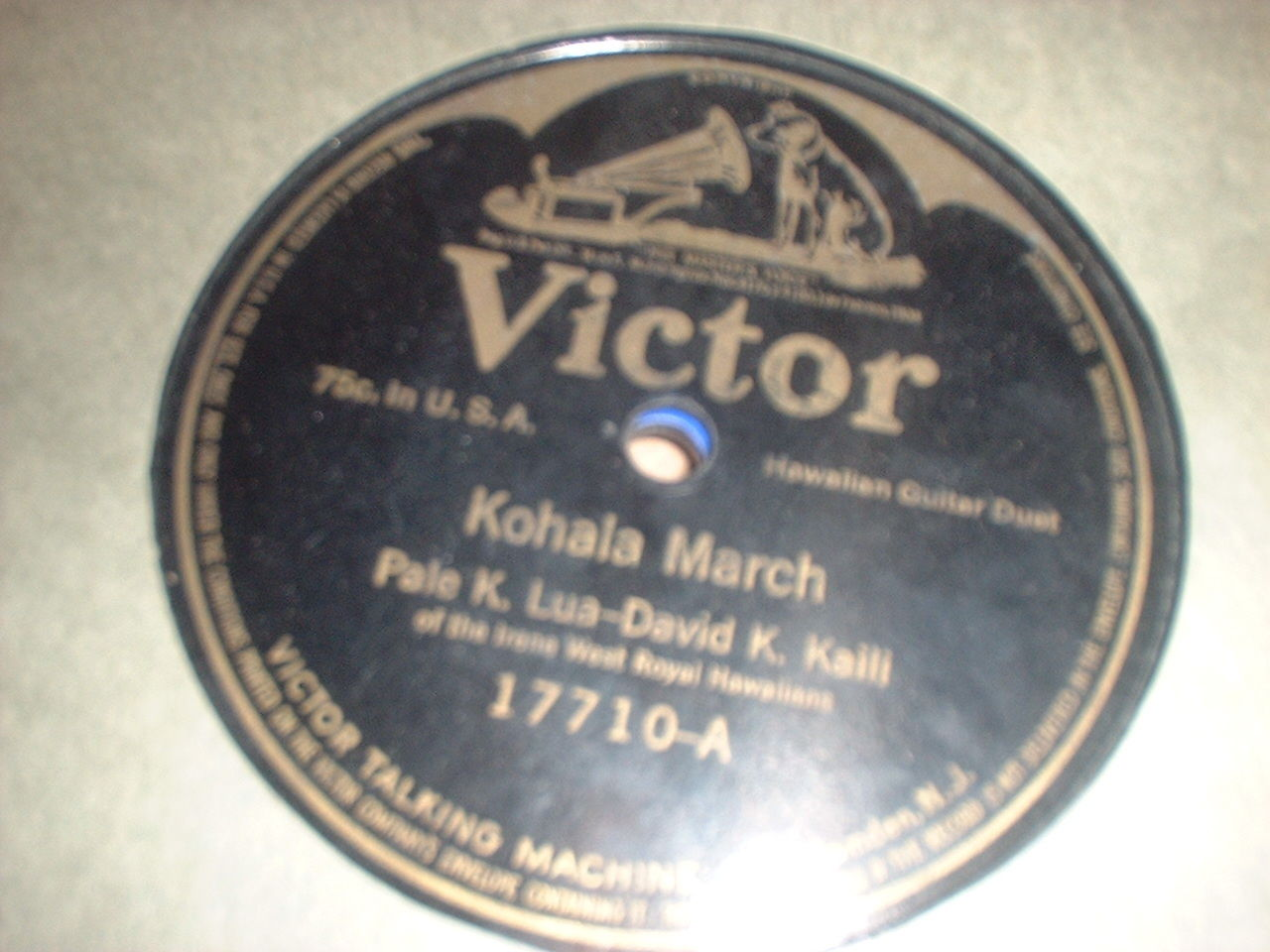 78RPM Victor 17710 Pale K. Lua – David K. Kaili, Honolulu March / Kohala March V