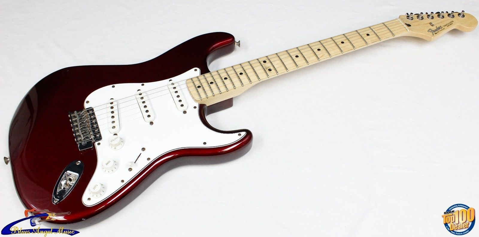 2007-2008 Fender Standard Stratocaster Made in Mexico Midnight Wine Strat #33505