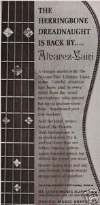 1973 THE HERRINGBONE DREADNOUGHT GUITAR ALVAREZ-YAIRI AD