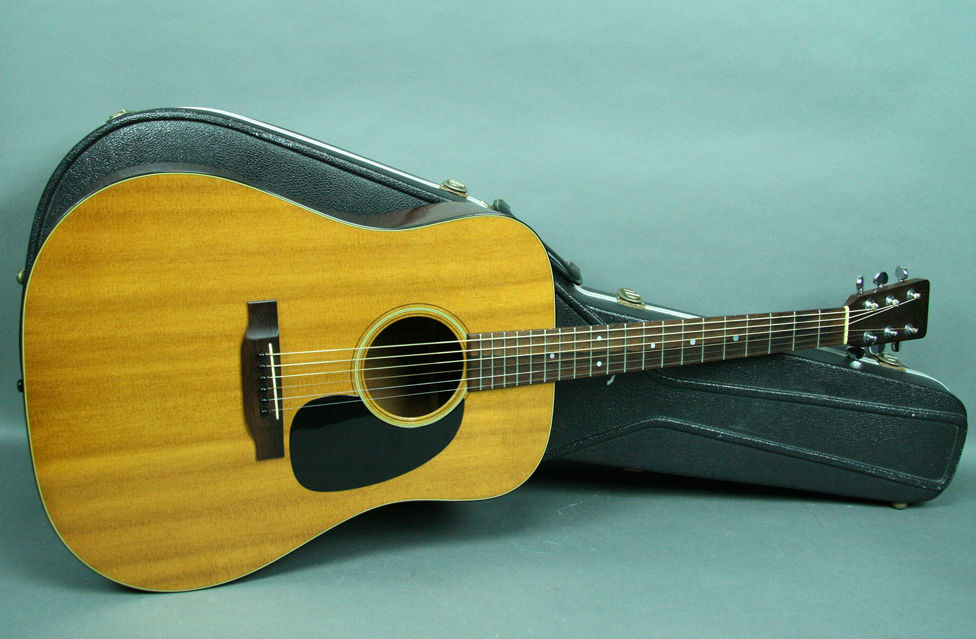 1970 Martin D-18 Vintage Acoustic Guitar Dreadnought Natural Finish USA w/OHSC
