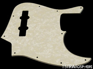 * NEW Aged Pearloid PICKGUARD for Fender Jazz Bass 3 Ply Standard 10 Hole