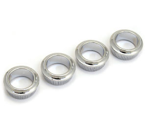 (4) Genuine Fender Standard/Squier Chrome Bass Tuner Bushings 005-1532-049