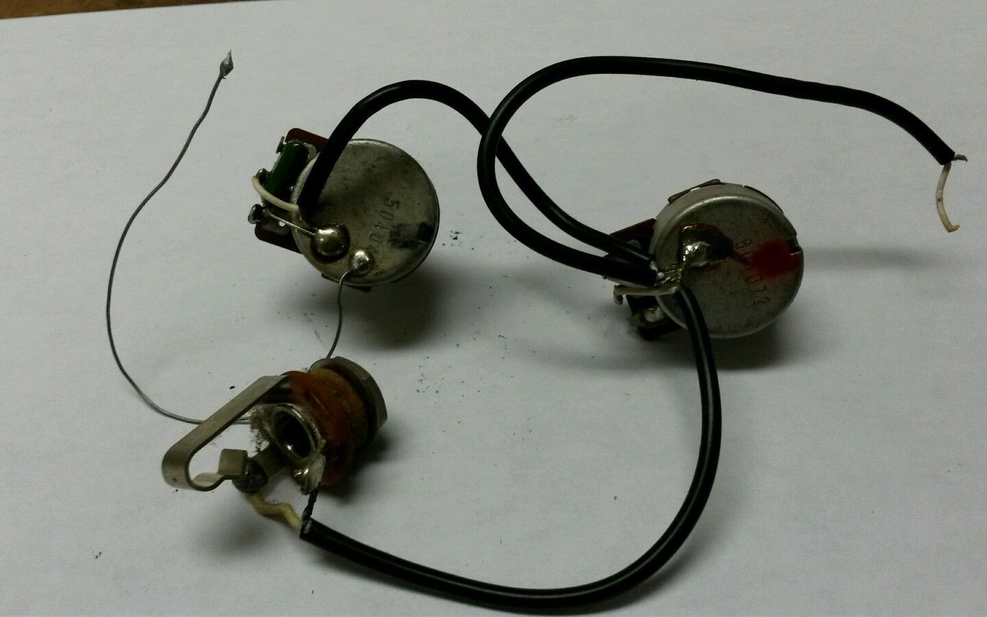 1980 Ibanez Roadster Rs100 Electric Guitar Wiring Assembly Control Pots Jack