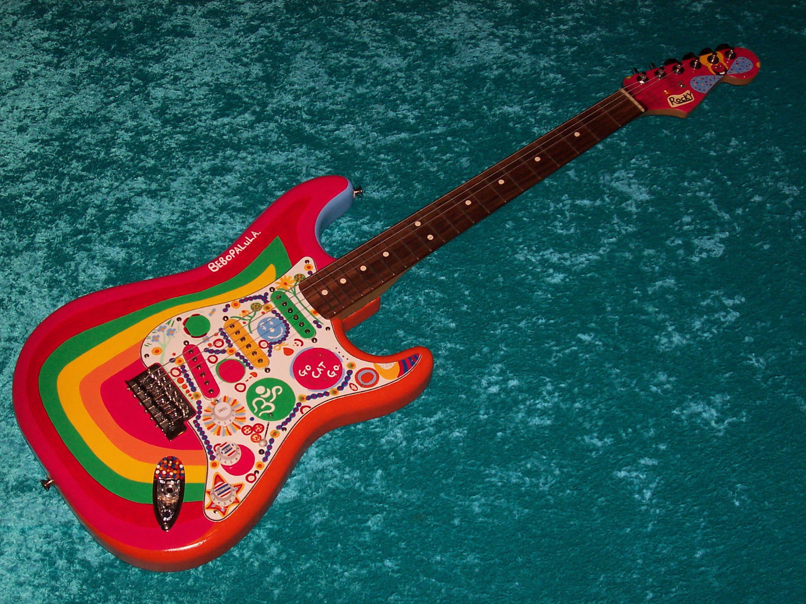 !!! Rocky Fender Stratocaster Guitar Strat MIM Mexican Mexico  painted in USA