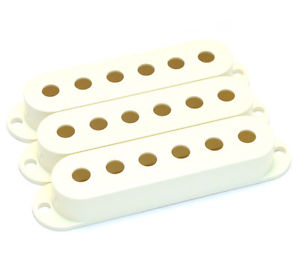 (3) GENUINE FENDER PARCHMENT STRATOCASTER PICKUP COVERS 005-6251-049
