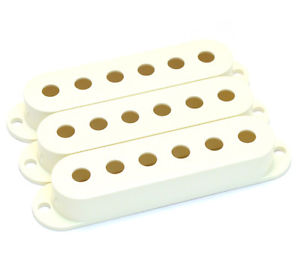 (3) Genuine Fender Parchment Stratocaster/Strat Pickup Covers 005-6251-049
