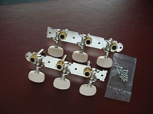 """New"" KB Acoustic ""Vintage"" Guitar Tuners! / White Buttons!"