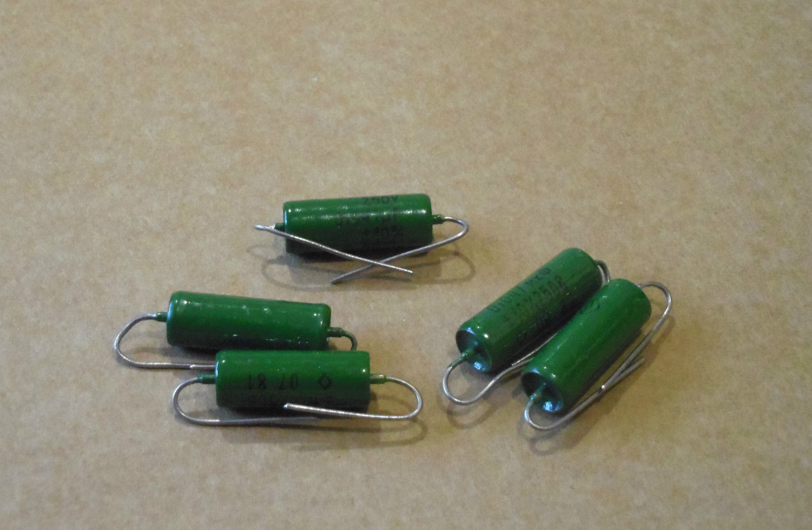 0.047uF PIO Russian Green vintage guitar capacitor Soviet single coils