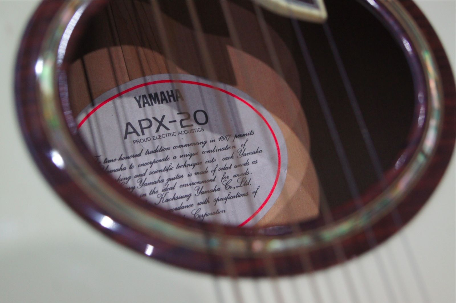 Yamaha APX-20 Electric Acoustic guitar
