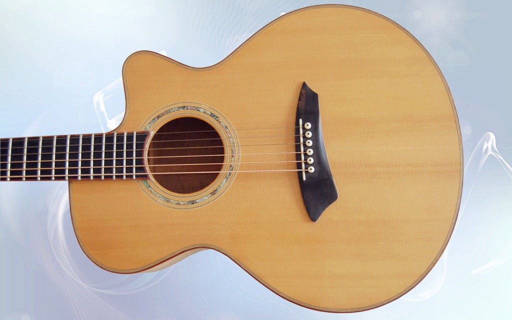 yunzhi handmade solid wood acoustic flat guitar