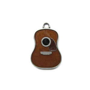 Original Vintage Country Music Guitar Metal Charm Pendant