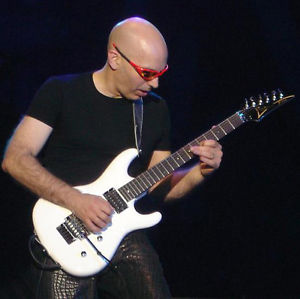 Musician Joe Satriani Play Guitar Pop Music Painting Original Signed Guitarist