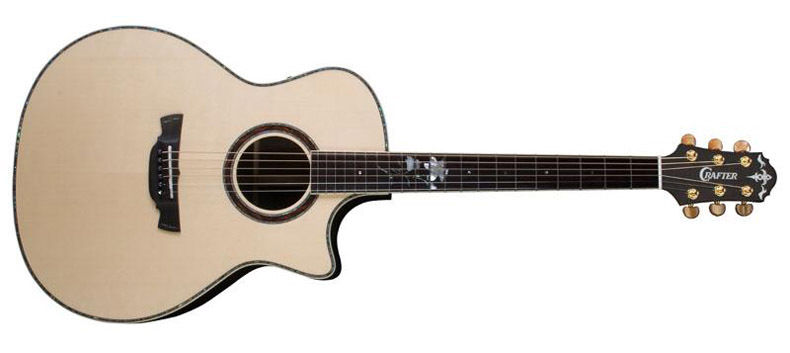 New CRAFTER WF WILD WOOD FLOWER BUBINGA BACK & SIDES ACOUSTIC ELECTRIC GUITAR
