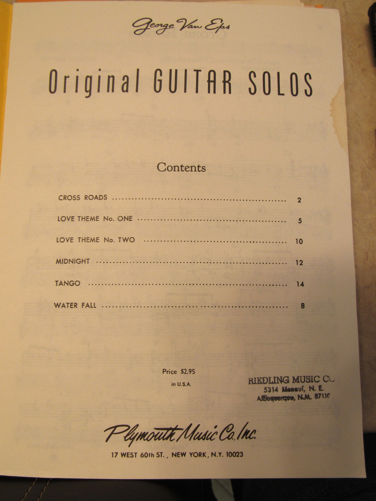 """George Van Eps Original Guitar Solos"""