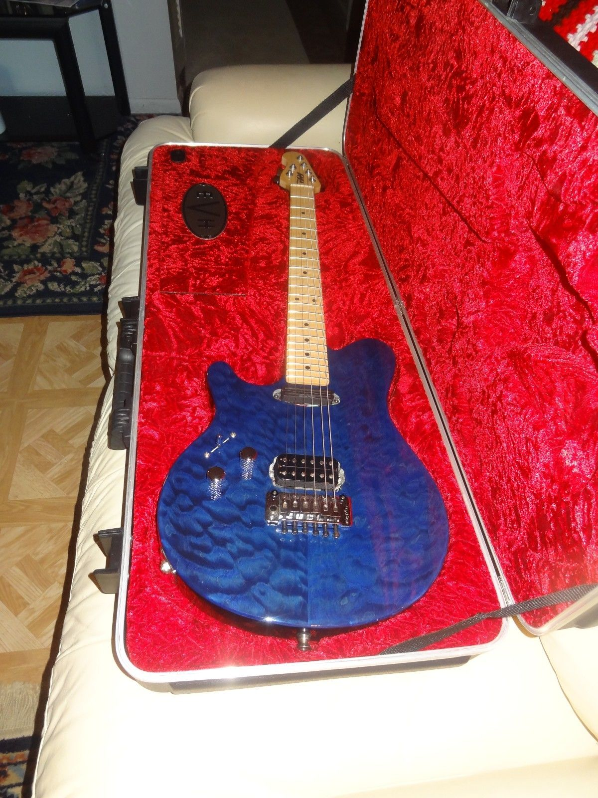 Left handed EVH Wolfgang style guitar