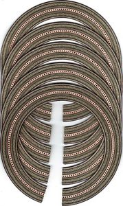 (FIVE) ACOUSTIC, CLASSICAL, GUITAR ROSETTE / INLAY, SOUND HOLE 323-5