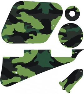 Kit Pickguard Pick Guard Graphical Gibson LP Les Paul Guitar Camouflage Forest