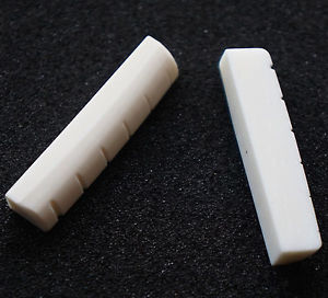 2PCS Standard Acoustic Guitar Slotted 43mm Real Bone Nut For Martin Taylor New