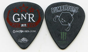GUNS N ROSES 2011 Chinese Tour Guitar Pick!!! BUMBLEFOOT custom concert stage