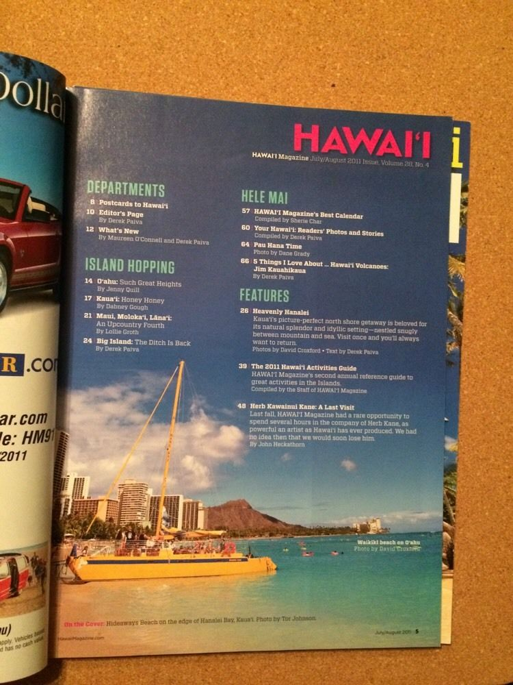 Hawaii Magazine August 2011 Hanalei Rodeo Parade Herb Kane Activity Guide Kohala