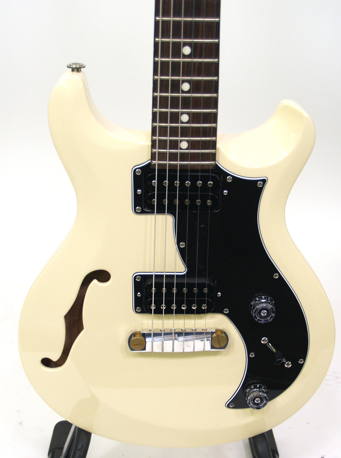PRS S2 Mira Semi-Hollow Electric Guitar – Antique White Finish