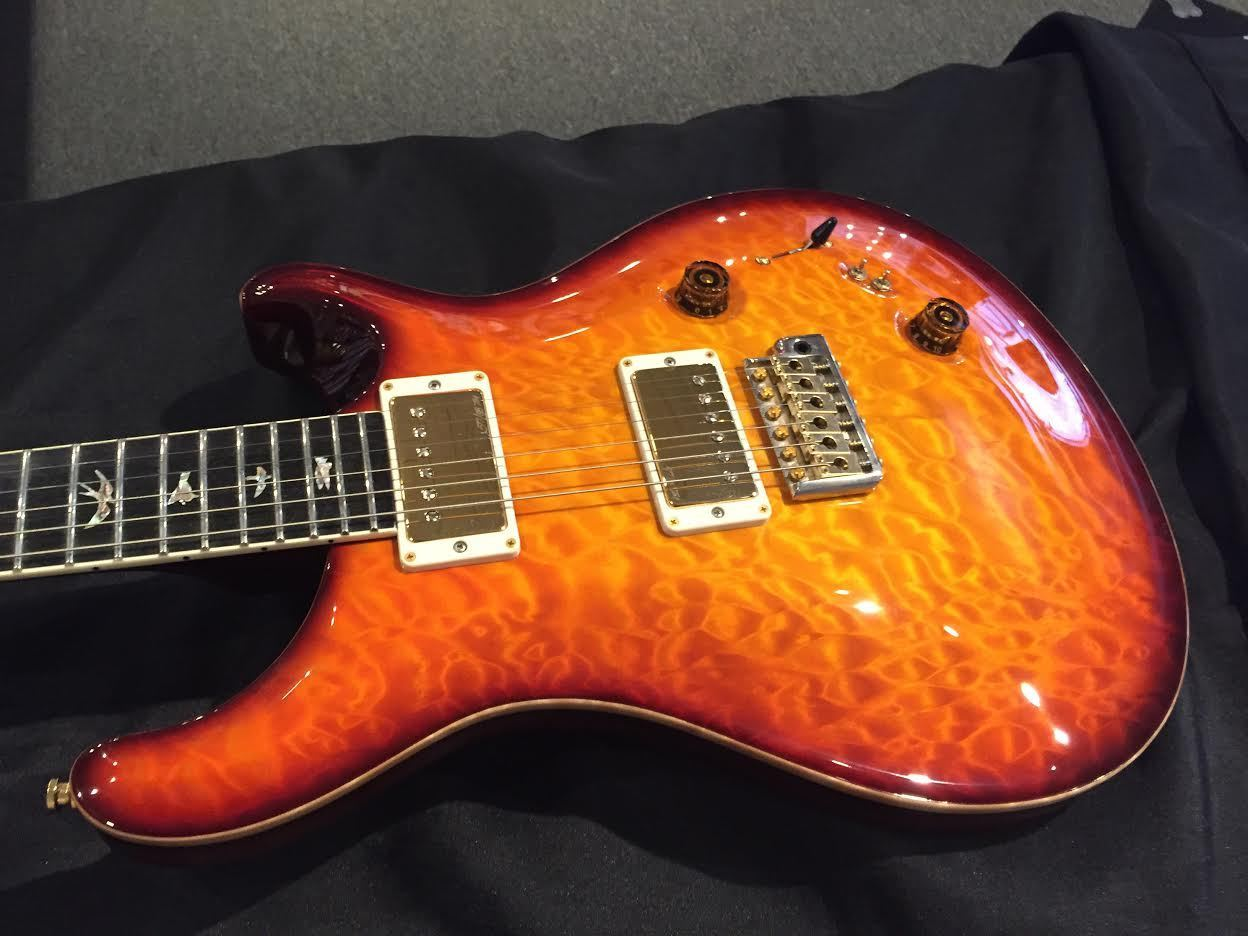PRS Private Stock 408 w/ One Piece Quilted Maple Top 2014 Orange Glow w/ Micro B