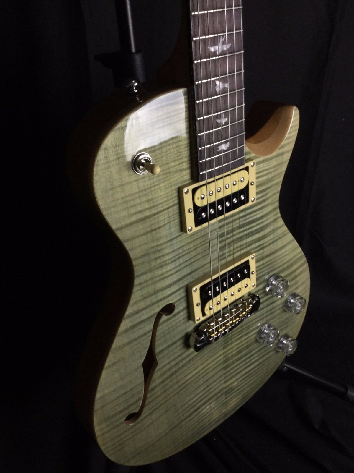 PRS SE Zach Myers Singlecut Semi-hollow W/ Gig Bag Trampus Green